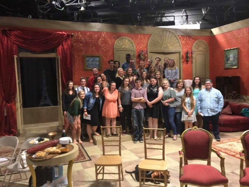 STP students enjoy a backstage tour at the Oldcastle Theatre