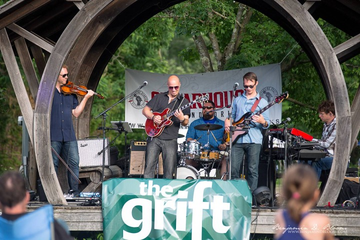 The Grift performing on stage