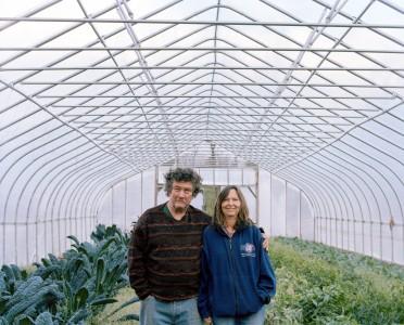 The Coxs at their farm in West Rutland