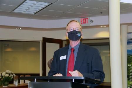 Lyle Jepson standing at podium